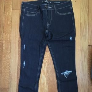 Hollister low rise ripped jean